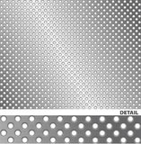 Aufgetragene Metalloberfläche mit Löchern. Stockbild