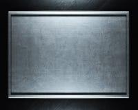 Aufgetragener silberner Metallhintergrund Stockfotos