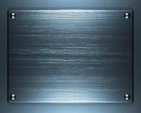 Aufgetragener Stahl Stockbild