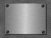 Aufgetragenes Metallplatten Stockbild