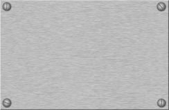 Aufgetragenes Metallplatten mit Schrauben Stockbilder