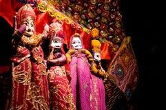 Aufgezogene Puppen von Rajasthan Indien Lizenzfreie Stockfotos
