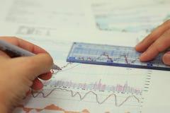 Aufgliederung und Bewertung des Portefeuilles Stockfotos