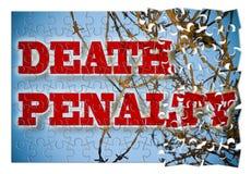 Aufhebung der Todesstrafe - Konzeptbild in der Puzzlespielform lizenzfreie stockbilder