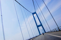 Aufhebungbrücke in Dänemark, diagonal Lizenzfreie Stockbilder