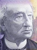 Aufhebungbrücke John-A Macdonald-Porträt stockbilder