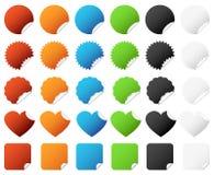 Aufkleber-Abzeichen-gesetzter Vektor lizenzfreie abbildung