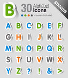 Aufkleber - Alphabet Stockfotos