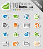 Aufkleber - Büro-und Geschäfts-Web-Ikonen Lizenzfreies Stockbild