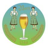 Aufkleber-Bierrestaurant der Weinlese Retro- Lizenzfreie Stockfotos