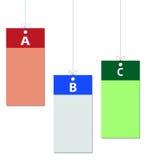 Aufkleber in den verschiedenen Farben Stockfoto