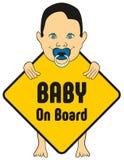 Aufkleber des Babys an Bord Stockfotografie