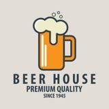 Aufkleber des Bierausweises, Logoschablonen und Gestaltungselemente für Bier bringen unter, halten ab, Stockfoto