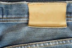 Aufkleber des Blue Jeans-freien Raumes Lizenzfreies Stockbild
