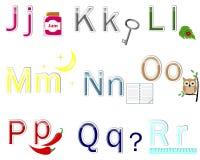 Aufkleber des englischen Alphabetes. vektor abbildung