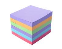 Aufkleber des farbigen Papiers des Stapels Stockfoto