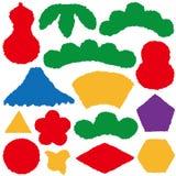 Aufkleber des japanischen Papiers Ikonen des neuen Jahres Stockbild