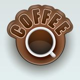 Aufkleber des Kaffees Symbol für Menü Vektor Lizenzfreie Stockbilder