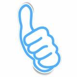 Aufkleber des sehr guten Handzeichens vektor abbildung
