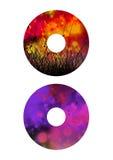 Aufkleber einfach für CD/DVD Lizenzfreie Stockfotos