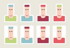 Aufkleber Emoticons Lizenzfreie Stockfotos