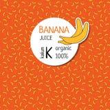 Aufkleber für Bananensaft Auch im corel abgehobenen Betrag Stockbilder