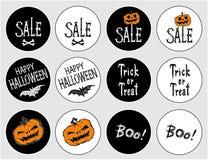 Aufkleber für den Feiertag Halloween Lizenzfreie Stockfotos