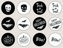 Aufkleber für den Feiertag Halloween Lizenzfreies Stockbild