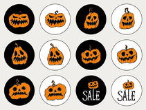 Aufkleber für den Feiertag Halloween Lizenzfreie Stockbilder