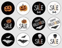 Aufkleber für den Feiertag Halloween Stockbilder