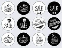 Aufkleber für den Feiertag Halloween Stockfotos