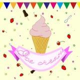 Aufkleber für Eiscreme Lizenzfreies Stockfoto