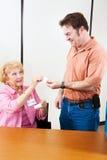 Aufkleber für erwachsenen Wähler Lizenzfreies Stockfoto