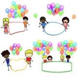 Ballon und das Kind Lizenzfreie Stockfotografie