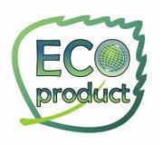 Aufkleber für umweltfreundliches Produkt Lizenzfreie Stockbilder