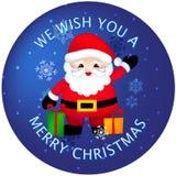 Aufkleber/Knöpfe der frohen Weihnachten Lizenzfreies Stockfoto