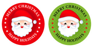 Aufkleber/Knöpfe der frohen Weihnachten Lizenzfreie Stockfotos