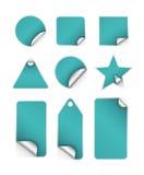 Aufkleber-Marken mit Rand Lizenzfreies Stockbild