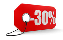 Aufkleber mit -30% Stockfotografie