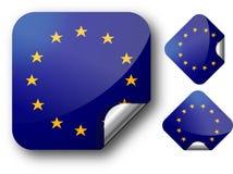 Aufkleber mit EC-Markierungsfahne Lizenzfreies Stockbild