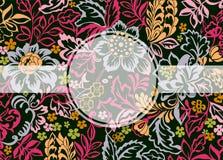 Aufkleber mit Kopienraum und Blumenhintergrund Stockfotos