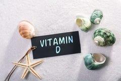 Aufkleber mit Vitamin d lizenzfreie stockfotografie
