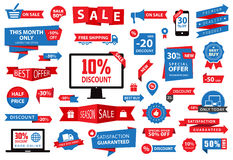 Aufkleber-Tag-Fahnen-Verkauf stock abbildung