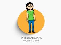 Aufkleber, Tag oder Aufkleber für den Tag der internationalen Frauen Stockfoto