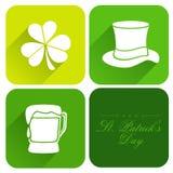 Aufkleber, Tag oder Aufkleber für glücklichen St Patrick Tag Stockbilder