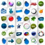 Aufkleber-u. Aufkleber-Design Lizenzfreie Stockbilder