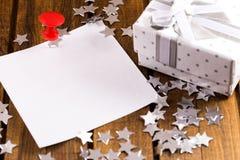 Aufkleber und Geschenk Lizenzfreie Stockfotografie