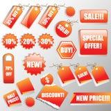 Aufkleber und Verkaufs-Marken Stockbilder