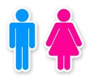 Aufkleber von Toilettensymbolen Lizenzfreies Stockbild