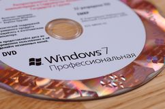 Aufkleber Windows-7 getrennt auf weißem Hintergrund Lizenzfreies Stockbild